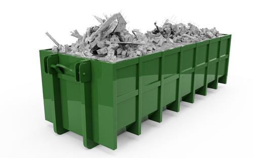 green dumpster container
